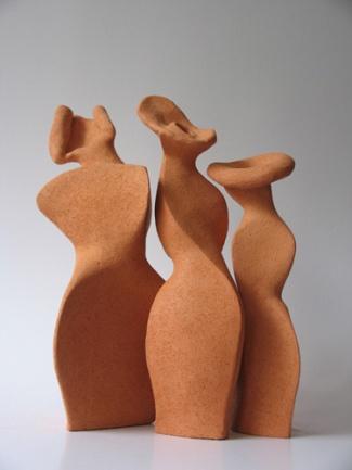 Drie Gratien (keramiek hoogte ca 40 cm)
