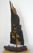 Goldrush (ca -hout - ijzer - olieverf 80 x 55 cm)