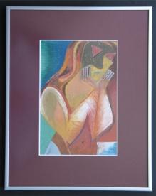 Mask (2D pastel 40x34 cm)