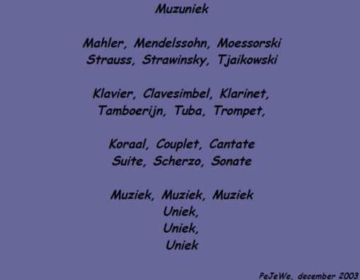 Muzuniek (dec 2003)