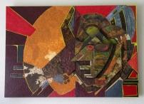 Ridder Jan oftewel Elvis (MDF - papiermache - acryl 70 x 100 cm)