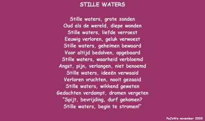 Stille waters (nov 2003)